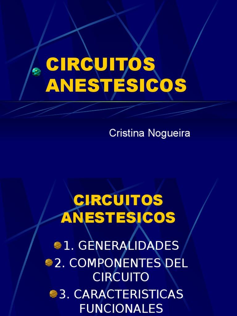 Circuito Bain : Circuitos anestésicos cristina