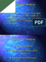 Gravimetric Analysis Very Good