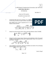 9A 01403 Structural Analysis - I