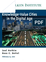 Knowledge Values Cities in the Digital Age