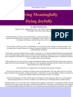 Ajahn Brahmavamso - Living Meaningfully Dying Joyfully