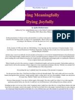 Ajahn Brahmavamso - Living Meaningfully Dying Joyfully