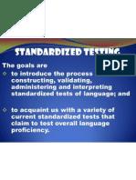 E Standardized Testing