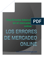 Los Errores de Mercadeo Online...