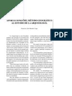 Aportaciones del método geográfico al estudio de la Arqueología.