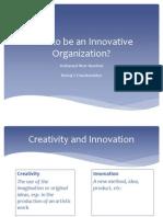 CINE Presentation - Innovative Organizations - NVM NNM