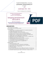 Nieuwsbrief Leergang Pensioenrecht 4 2011-2012