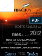 Editoriales Palestina Hoy abril 2012