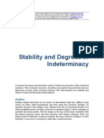 Structural ANALYSIS Stability and Degrees of Indeterminacy