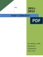 Solar Collectors Final Word