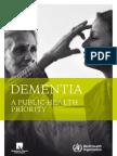 WHO Dementia a Public Health Priority