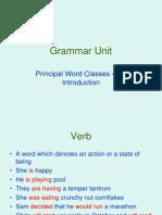 Principal Word Classes
