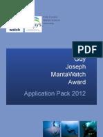 Internship Application Pack 2012