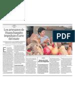 Los artesanos de Huanchaquito impulsan el arte del mate en Perú