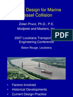 Bridge Design for Marine Vessel Collision