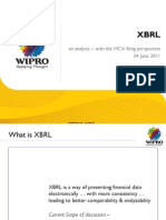Indian XBRL Presentation by Wipro