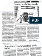 """Franchises boom with free trade"" Mayo de 1993-International Trade"