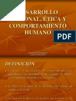 DESARROLLO PERSONAL, ÉTICA Y COMPORTAMIENTO HUMANO