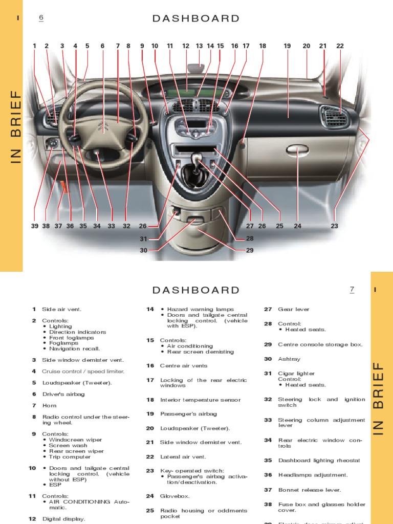 manual xsara picasso headlamp automatic transmission rh scribd com Citroen Xsara Picasso Problems citroen xsara picasso owner's handbook pdf