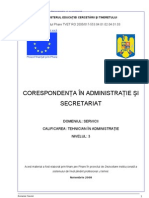 Corespondent A in Administratie Si Secretariat