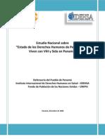 Informe Final Sobre El Estado de Ddhh y Vih de Pvvs