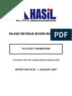Tax Audit Framework