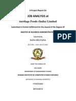 m.job Analysis at Heritage