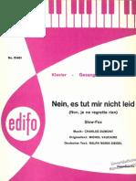 Edith Piaf - Non Je Ne Regrette Rien - 1960 - Chanson - Sheet Music