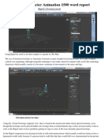 3D Animation 1500 Word Report