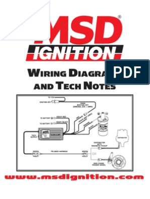 msd ignition wiring diagrams and tech notes | distributor | ignition system  scribd