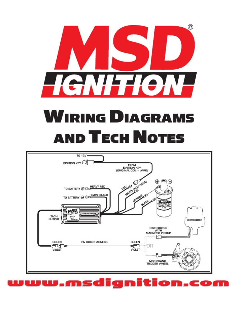 MSD IGNITION Wiring Diagrams and Tech Notes | Distributor ...