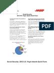 Social Security 2012 US Virgin Islands Quick Facts AARP