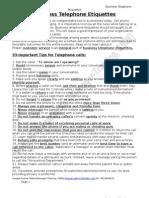 Business Telephone Etiquettes