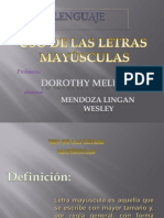 Uso de Mayusculas - Rae