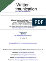 A Social-Interactive Model of Writing