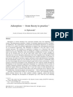 Adsorption — from theory to practice