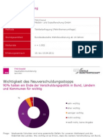 TNS Emnid-Umfrage zu Haushaltskonsolidierung