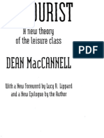 [Dean MacCannell the Tourist a New Theory of org