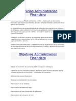 Definicion Administracion Financiera