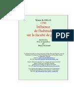 [ MAINE DE BIRAN ] ······ INFLUENCE HABITUDE FAC. PENSER --LNPR