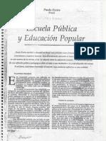 Escuela Pública y Educación Popular