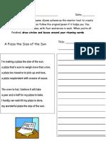Rhyme Scheme Worksheet