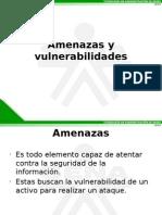Presentaccion de diferentes amenazas y vulnerabilidades existentes en los activos