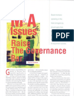 M&a Issues Raise the Governance Bar