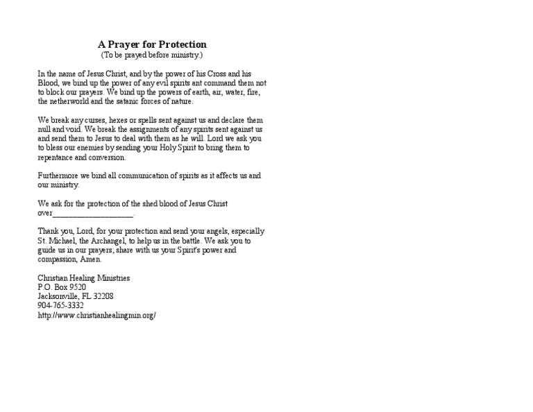 Prayer - Protection - Francis McNutt (1)