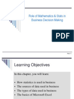 Ch 01 Role of Stats & Maths