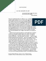 Deutsch, On the Concept of Art