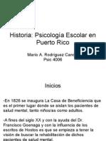 Historia Psicologia Escolar en Puerto Rico