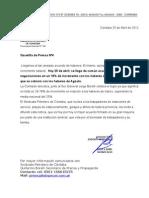 Gacetilla nº4. acuerdo salarial2012
