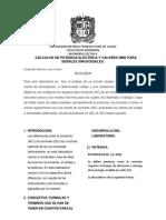CÁLCULOS DE POTENCIA ELÉCTRICA Y VALORES RMS PARA SEÑALES SINUSOIDALES.